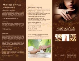 Thiết kế brochure cho salon nail