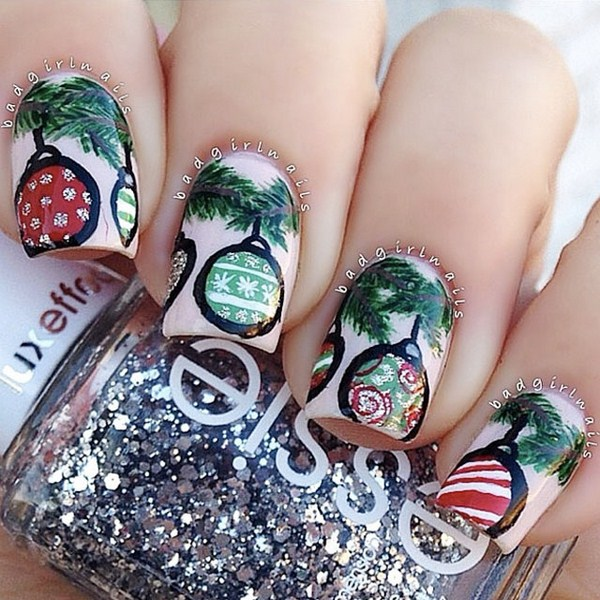 Christmas-ornament-nail-art-by-@BadGirlNails (Copy)