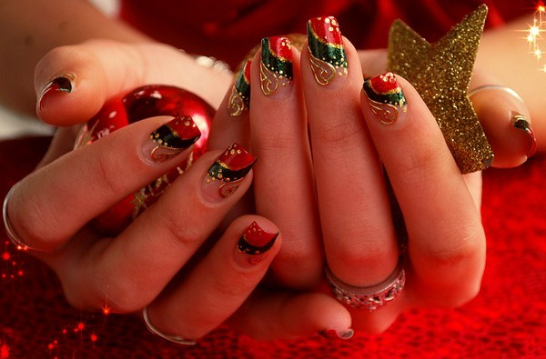 French-Manicure-Christmas-Nail-Designs-Xmas-Nail-Art (Copy)