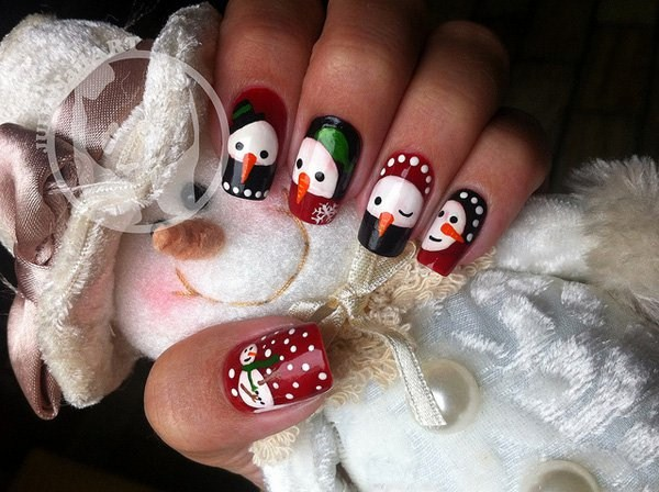 Snowman-nail-art-for-christmas (Copy)