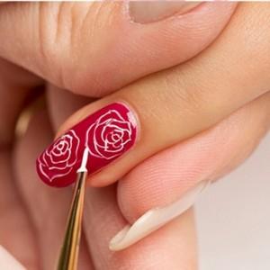 Hướng dẫn vẽ nail: Bông hồng ý nghĩa ngày Valentine