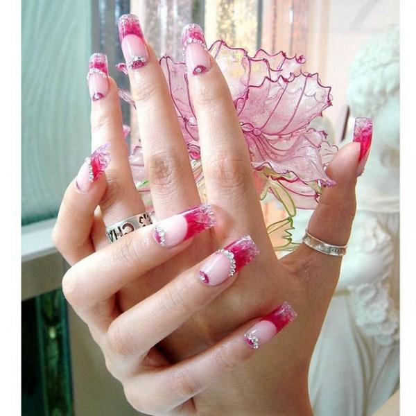beautiful shiny long nail designs (Copy)