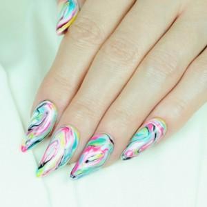 Hướng dẫn vẽ nail marble mùa xuân 2015