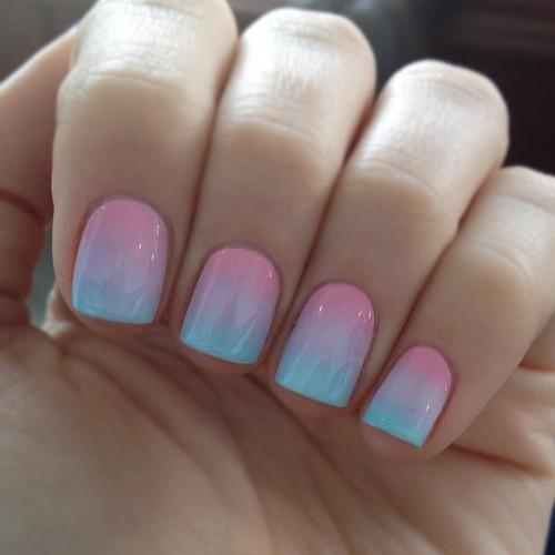 thời trang nail Ombre