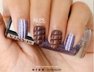 Hướng Dẫn Vẽ Nail: Ngọt Ngào Hương Chocolate Sữa