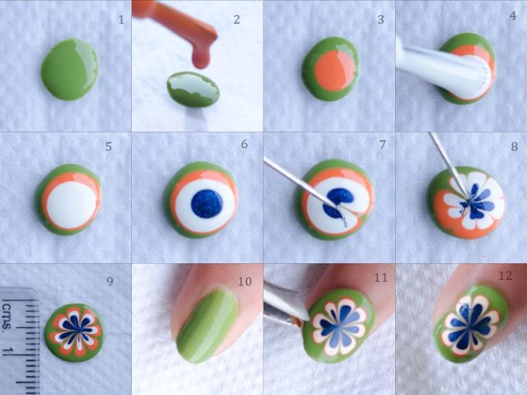 mẫu nail táo xanh