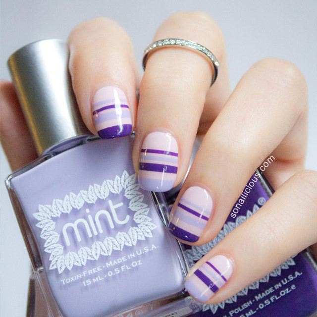 Spring-Nail-Art-with-striping-tape