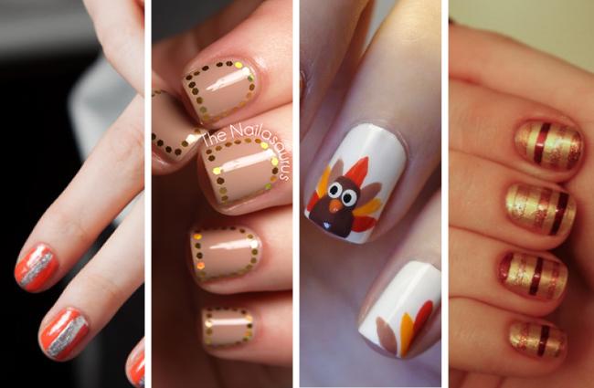 nghệ thuật nail Thanksgiving