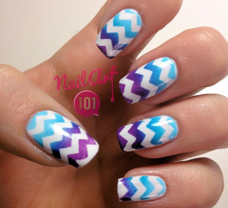 vẽ nail chữ V