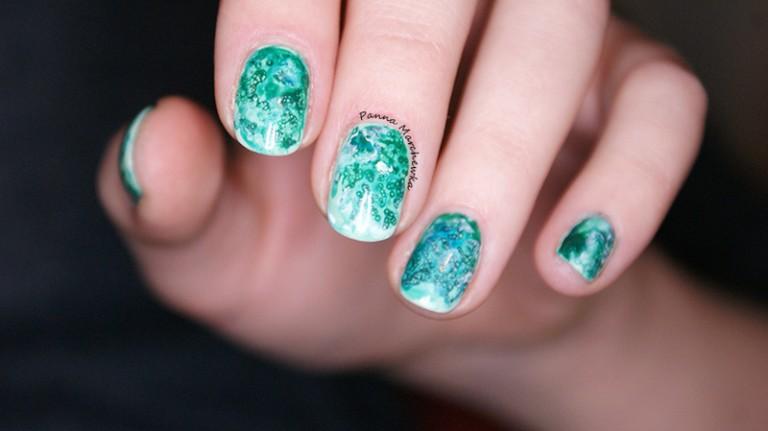 mẫu nail màu nước