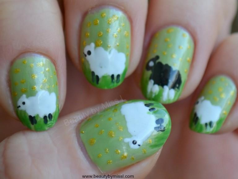 mẫu nail cừu
