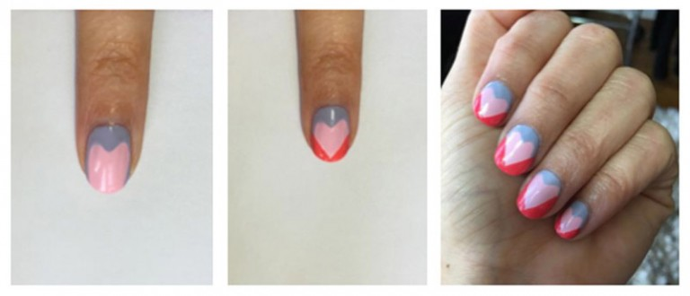 mẫu nail valentine