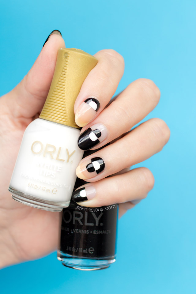 black-and-white-nails-negative-space-nails