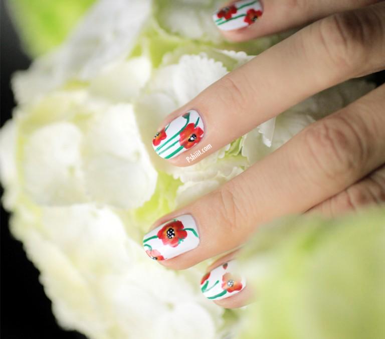 vẽ nail hoa Túc Anh