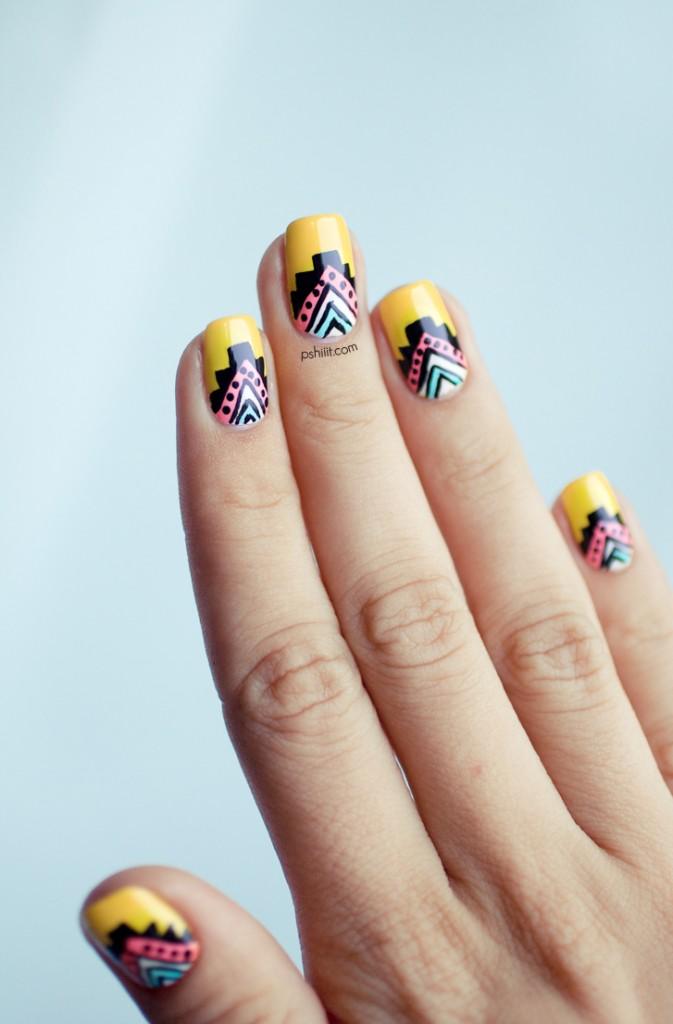 vẽ nail mùa hè