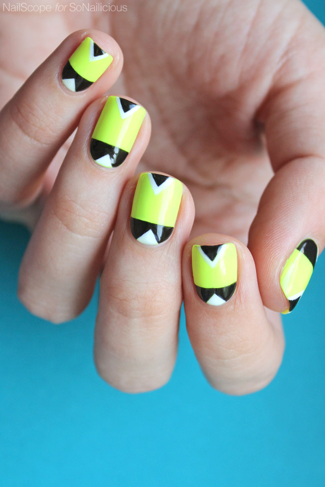 vẽ nail neon