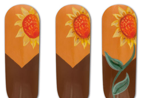 Hướng Dẫn Vẽ Nail: Nail Hoa Hướng Dương