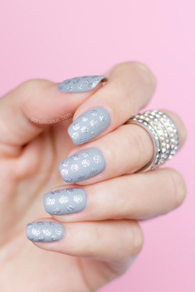 easy-nail-art-silver-polka-dot-nails