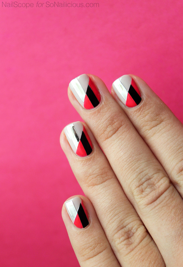 funky-nail-art-two-toned-nails-1