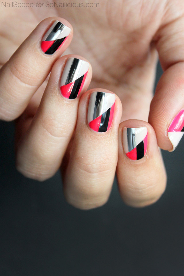 funky-nail-art-two-toned-nails-3