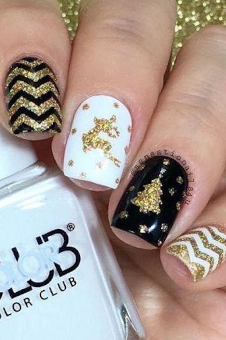 1479154739-gold-chevron-christmas-nail-art