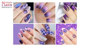 Sắc tím ma thuật: Mẫu nail quý phái và huyền bí | NailsVietnam