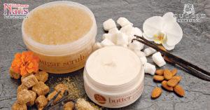 Chăm sóc da với đường tẩy tế bào chết và sáp dưỡng thể hương vani từ thương hiệu CUCCIO| NailsVietnam