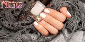 14 mẫu nail tone trắng độc đáo
