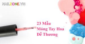 23 mẫu móng tay hoa dễ thương