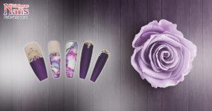 Hướng dẫn vẽ nail: Mẫu móng vân đá phong cách Dạ hội Hoàng Gia| NailsVietnam